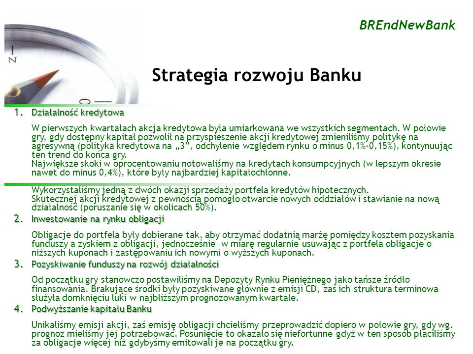 Strategia rozwoju Banku 1.