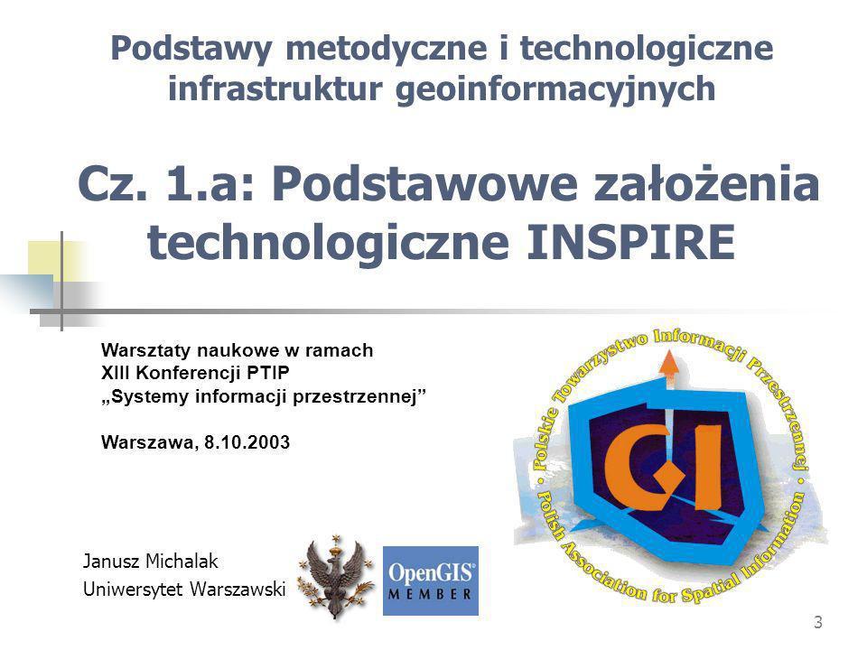 3 Podstawy metodyczne i technologiczne infrastruktur geoinformacyjnych Cz.