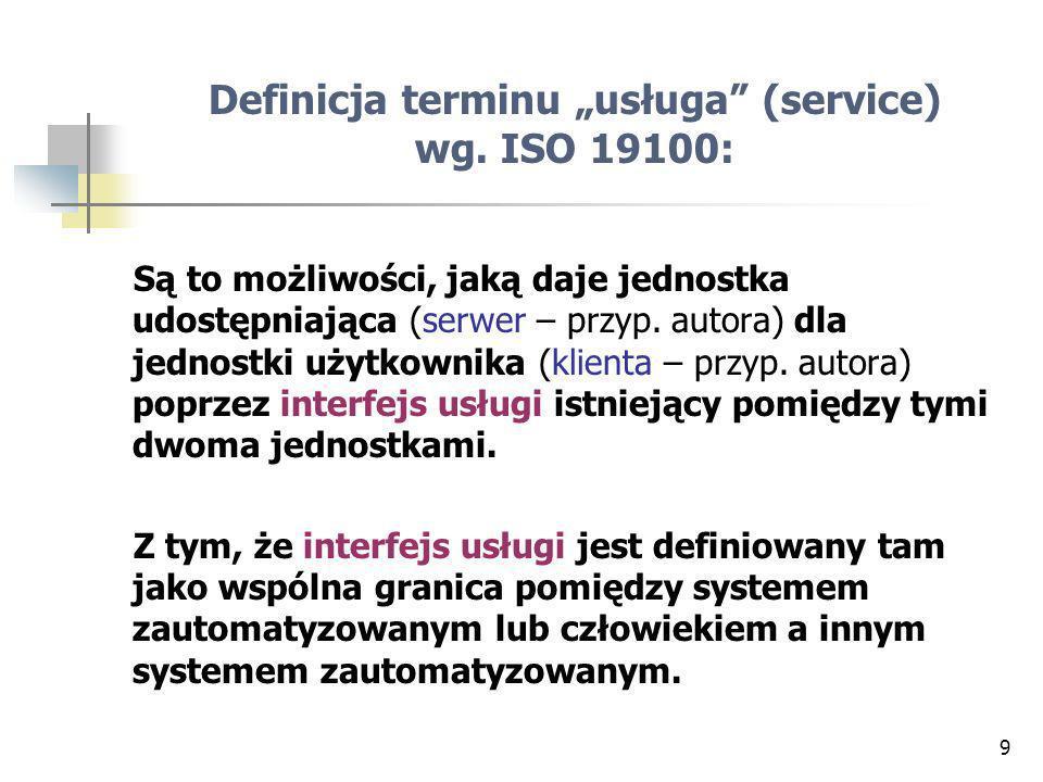 9 Definicja terminu usługa (service) wg.