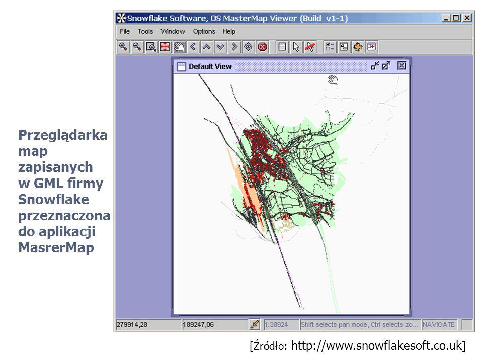 Przeglądarka map zapisanych w GML firmy Snowflake przeznaczona do aplikacji MasrerMap [Źródło: http://www.snowflakesoft.co.uk ]