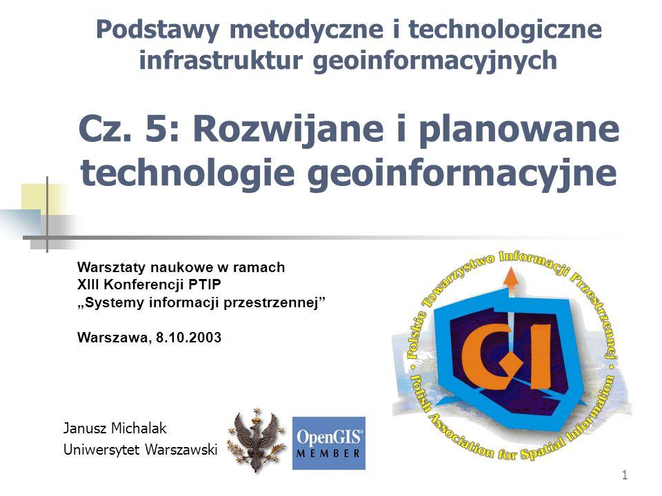 12 [Źródło: archiwum OGC] Schemat struktury usług w zakresie pomiarów i obserwacji