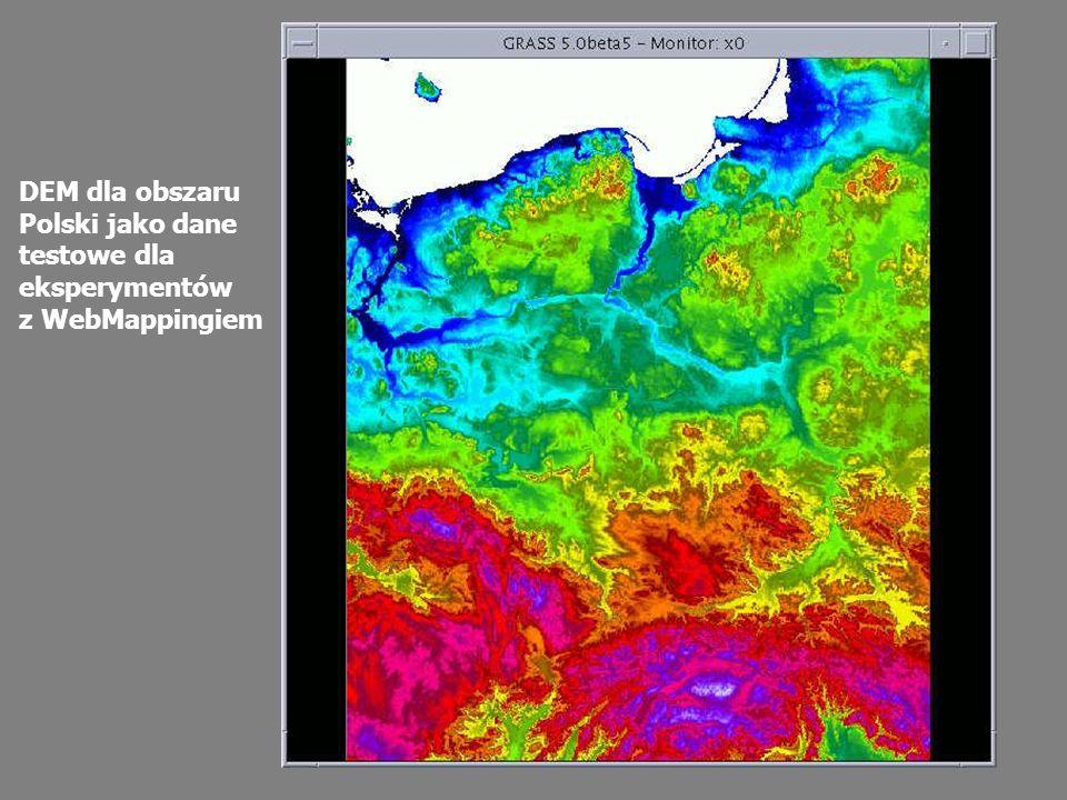 DEM dla obszaru Polski jako dane testowe dla eksperymentów z WebMappingiem