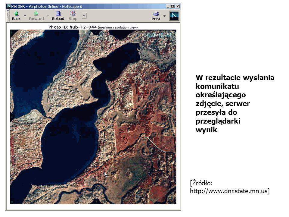 [Źródło: http://www.dnr.state.mn.us] W rezultacie wysłania komunikatu określającego zdjęcie, serwer przesyła do przeglądarki wynik