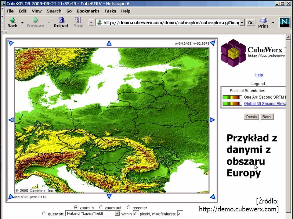 [Źródło: http://demo.cubewerx.com] Przykład z danymi z obszaru Europy
