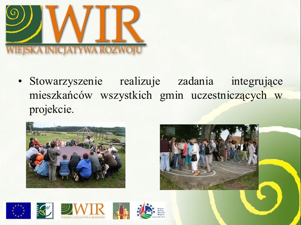 Stowarzyszenie realizuje zadania integrujące mieszkańców wszystkich gmin uczestniczących w projekcie.
