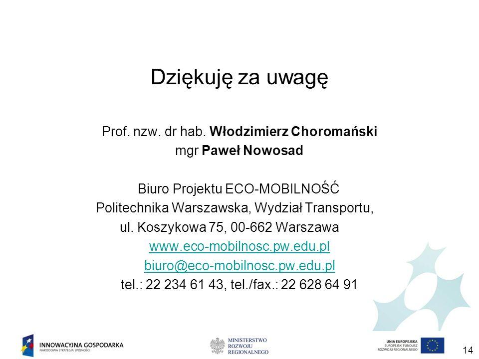 14 Dziękuję za uwagę Prof.nzw. dr hab.