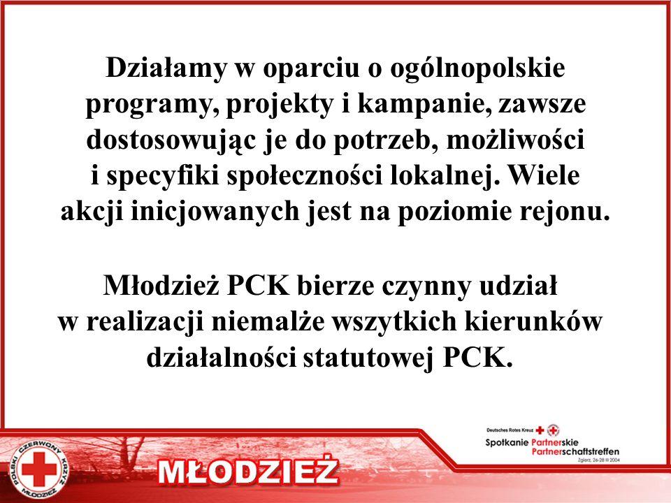 Działamy w oparciu o ogólnopolskie programy, projekty i kampanie, zawsze dostosowując je do potrzeb, możliwości i specyfiki społeczności lokalnej. Wie