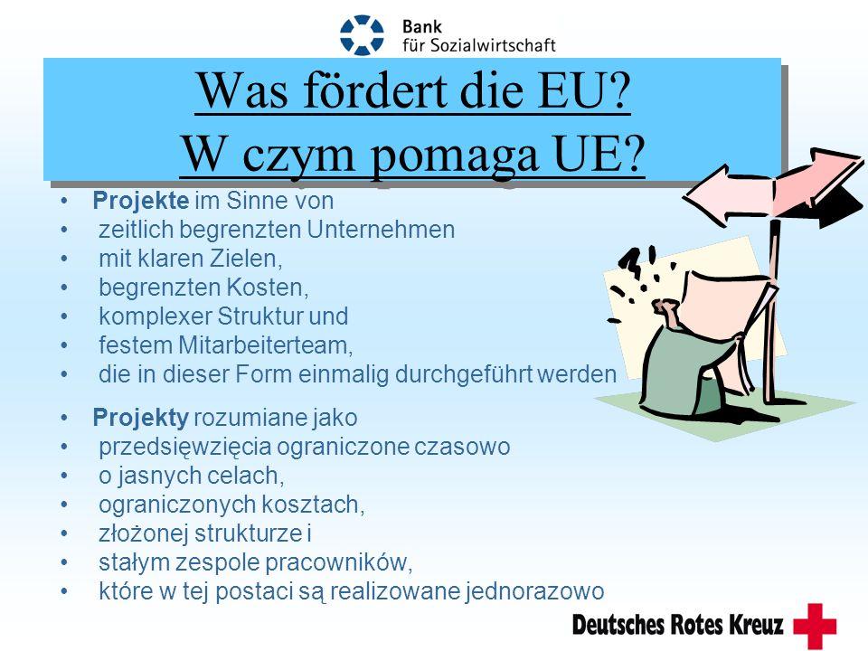 Was fördert die EU.W czym pomaga UE.