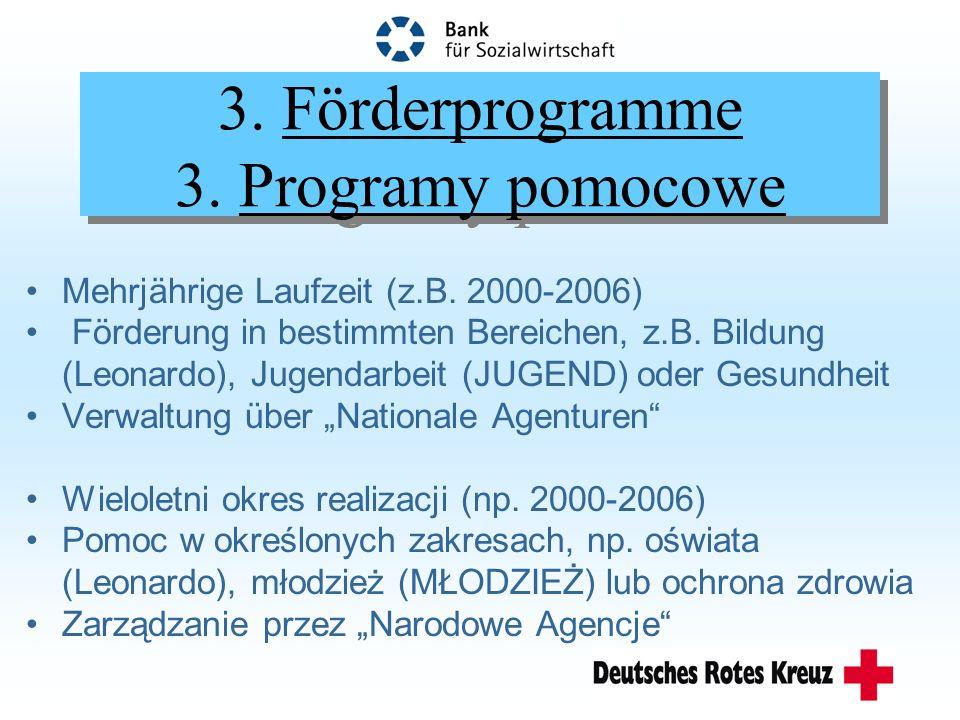 4.Pilotaktionen und Haushaltslinien 4.