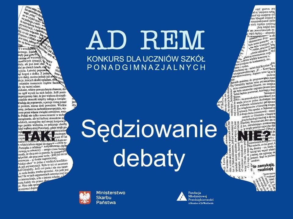 KODEKS ETYCZNY SĘDZIEGO CZ.2 6. Sędzia nie powinien przed zakończeniem konkursu komentować debaty (poza przypadkiem z pkt. 3) oraz dzielić się z kimko