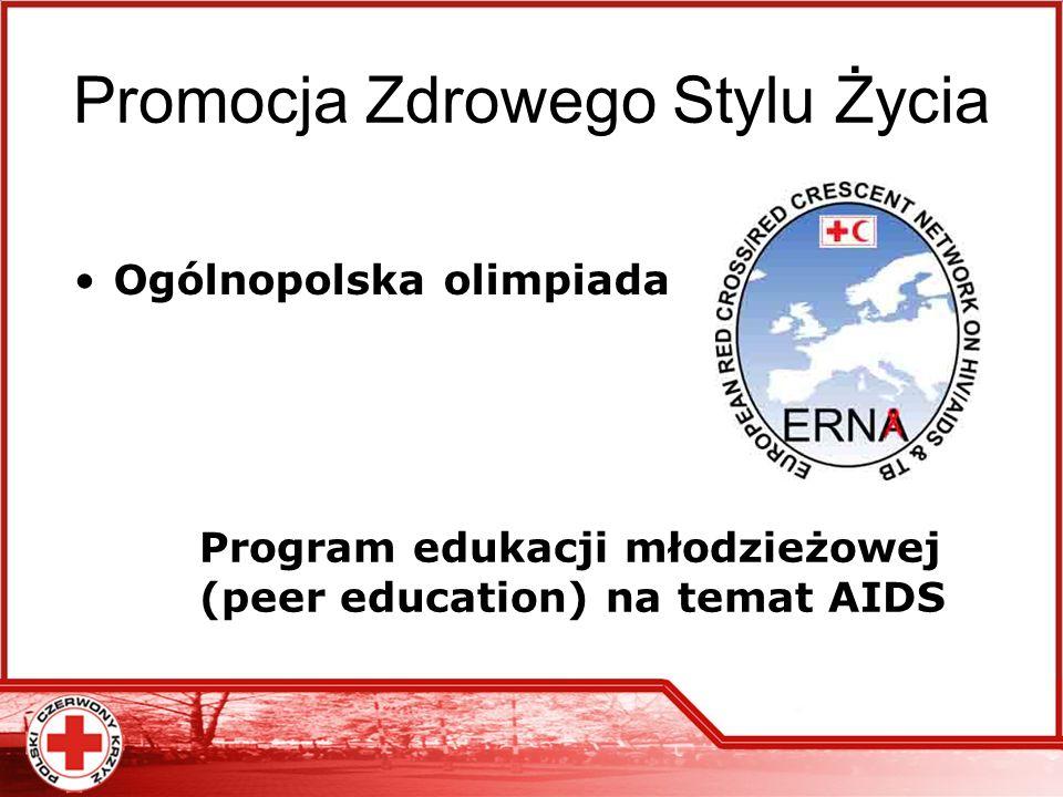 Promocja Zdrowego Stylu Życia Ogólnopolska olimpiada Program edukacji młodzieżowej (peer education) na temat AIDS