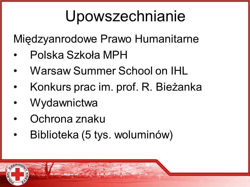 Upowszechnianie Międzyanrodowe Prawo Humanitarne Polska Szkoła MPH Warsaw Summer School on IHL Konkurs prac im. prof. R. Bieżanka Wydawnictwa Ochrona