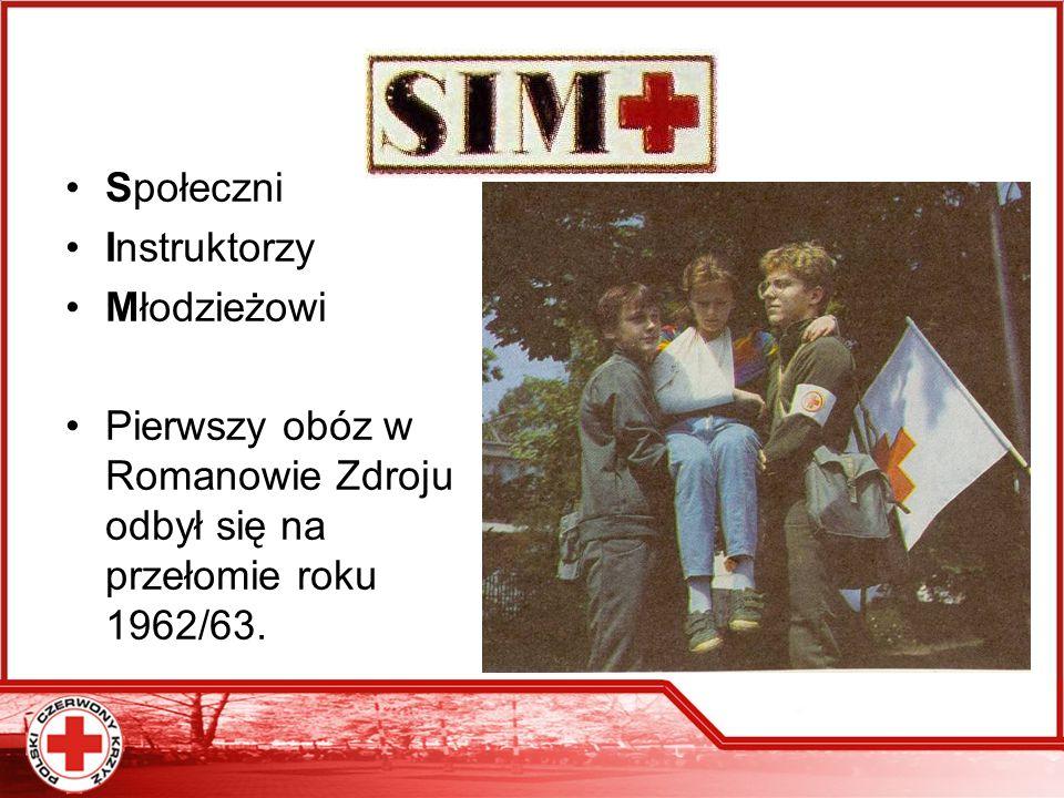 SIM Społeczni Instruktorzy Młodzieżowi Pierwszy obóz w Romanowie Zdroju odbył się na przełomie roku 1962/63.