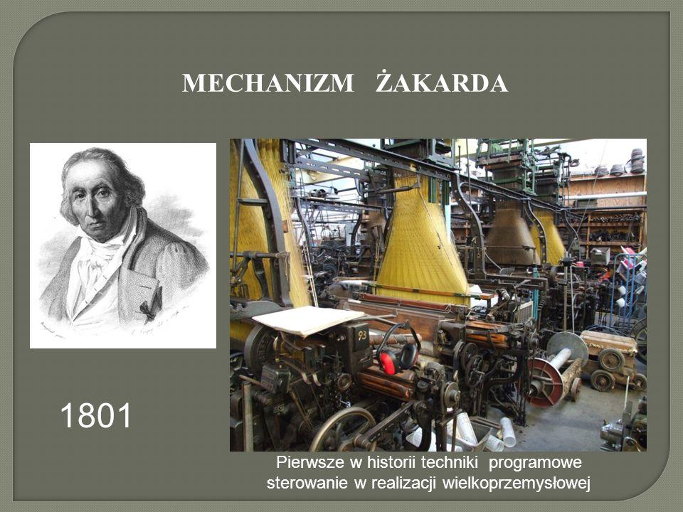 MECHANIZM ŻAKARDA Pierwsze w historii techniki programowe sterowanie w realizacji wielkoprzemysłowej 1801
