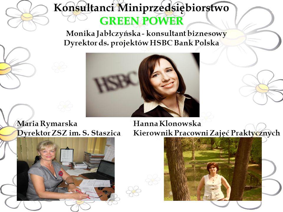 GREEN POWER Konsultanci Miniprzedsiębiorstwo GREEN POWER Monika Jabłczyńska - konsultant biznesowy Dyrektor ds.