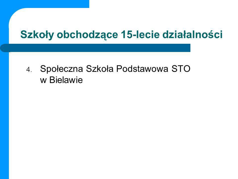 Szkoły obchodzące 15-lecie działalności 4. Społeczna Szkoła Podstawowa STO w Bielawie