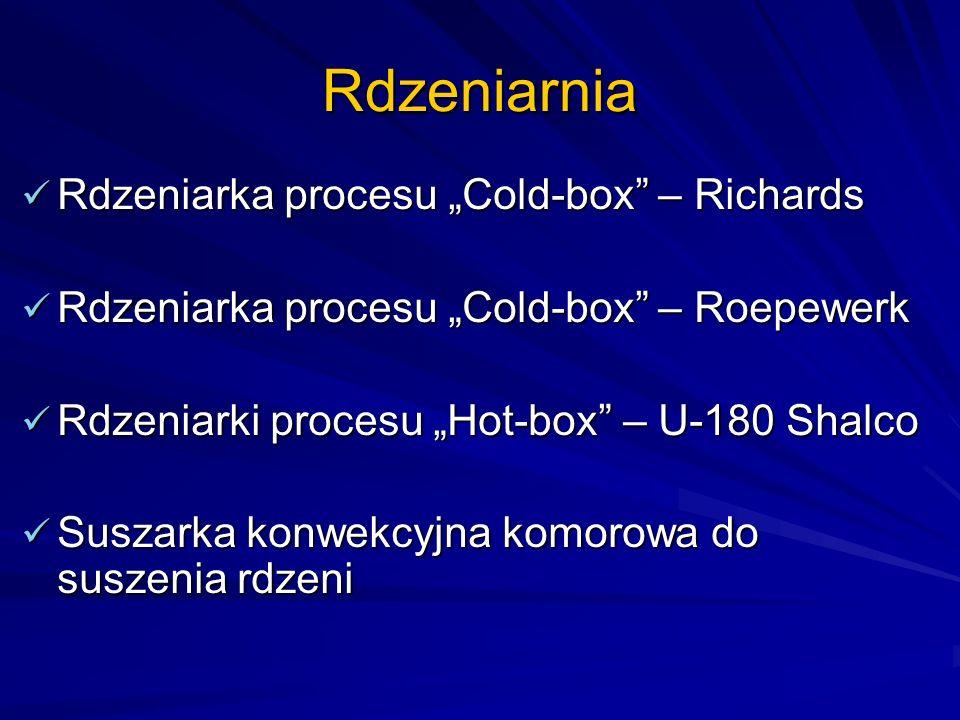 Rdzeniarnia Rdzeniarka procesu Cold-box – Richards Rdzeniarka procesu Cold-box – Richards Rdzeniarka procesu Cold-box – Roepewerk Rdzeniarka procesu C