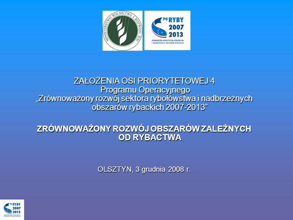 Dziękuję za uwagę Dodatkowe informacje: www.minrol.gov.pl (zakładka PO RYBY 2007-2013) Tel.