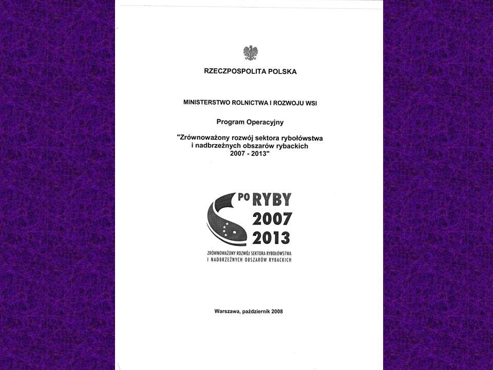 PO RYBY 2007-2013 Rozwój nowych rynków i kampanie promocyjne Propagowanie procedur służących wprowadzaniu produktów rybnych do obrotu (poprawa jakości, bezpieczeństwa, identyfikacji pochodzenia); Badania rynku i kampanie promocyjne (promowanie spożycia ryb, kampanie świadomego wyboru itd.) Organizacja wystaw produktów rybnych i udział w tych wystawach; Działania na rzecz certyfikacji.