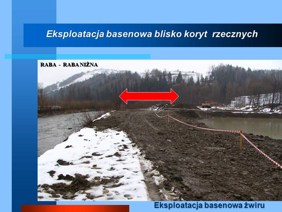 Eksploatacja basenowa blisko koryt rzecznych Eksploatacja basenowa żwiru RABA - RABA NIŻNA