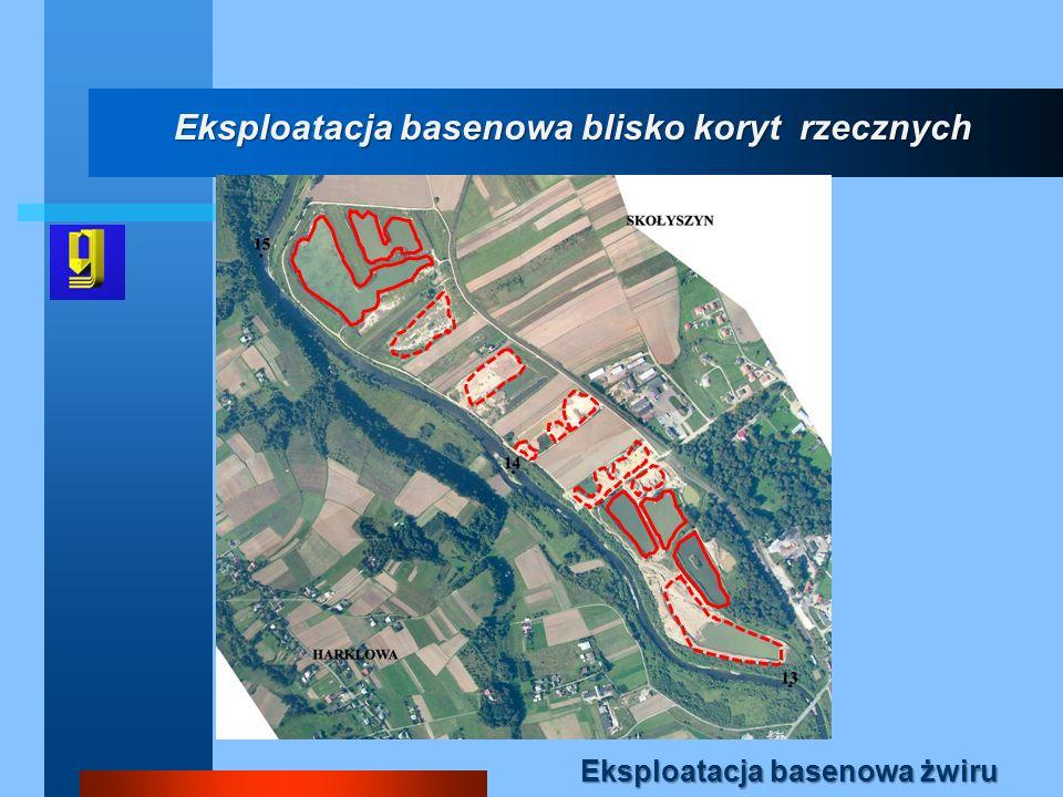 Eksploatacja basenowa blisko koryt rzecznych Eksploatacja basenowa żwiru
