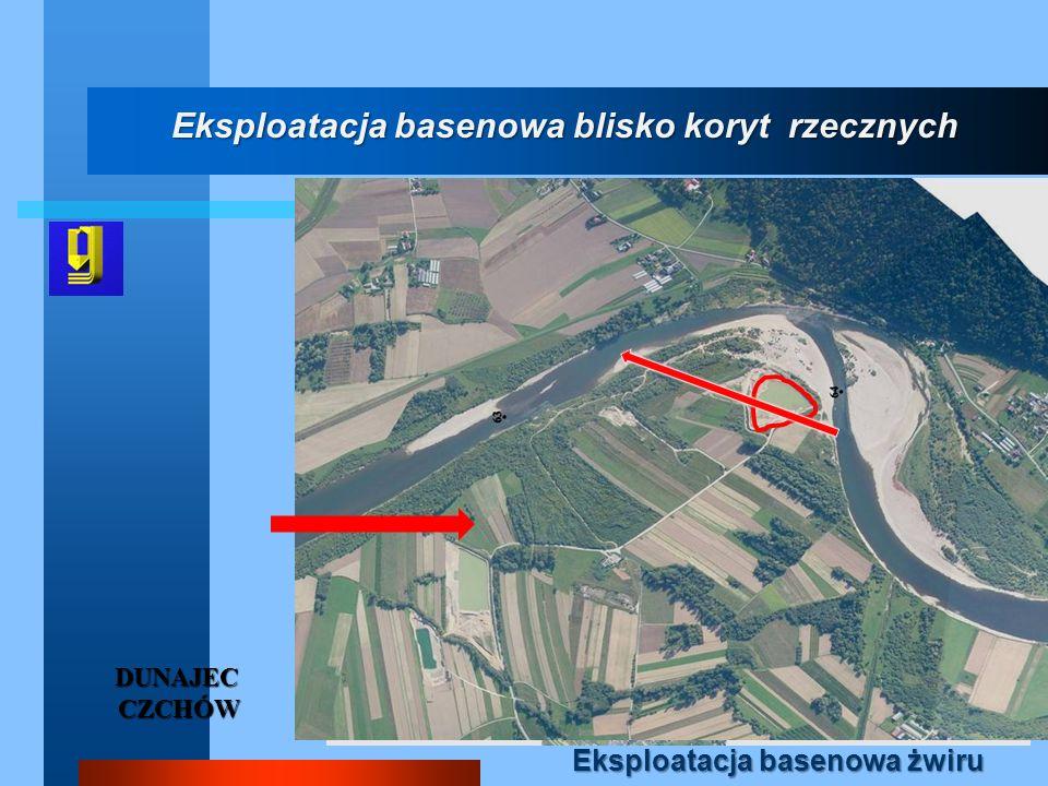 Eksploatacja basenowa blisko koryt rzecznych Eksploatacja basenowa żwiru DUNAJEC CZCHÓW