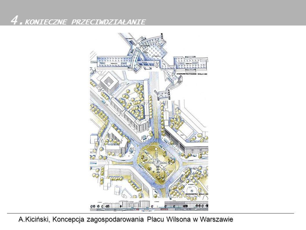 4.Konieczne przeciwdziałanie 4. KONIECZNE PRZECIWDZIAŁANIE A.Kiciński, Koncepcja zagospodarowania Placu Wilsona w Warszawie