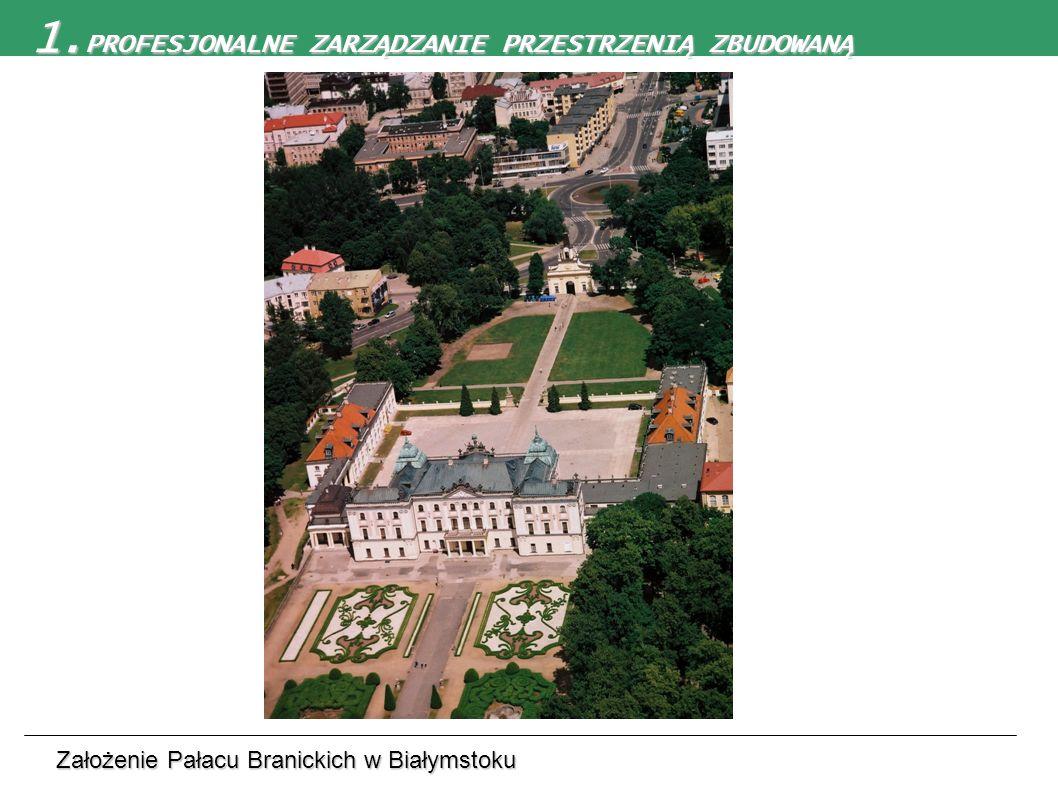 1. PROFESJONALNE ZARZĄDZANIE PRZESTRZENIĄ ZBUDOWANĄ Założenie Pałacu Branickich w Białymstoku