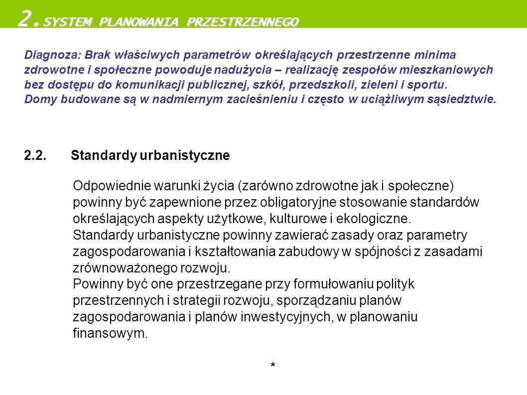 Odpowiednie warunki życia (zarówno zdrowotne jak i społeczne) powinny być zapewnione przez obligatoryjne stosowanie standardów określających aspekty u