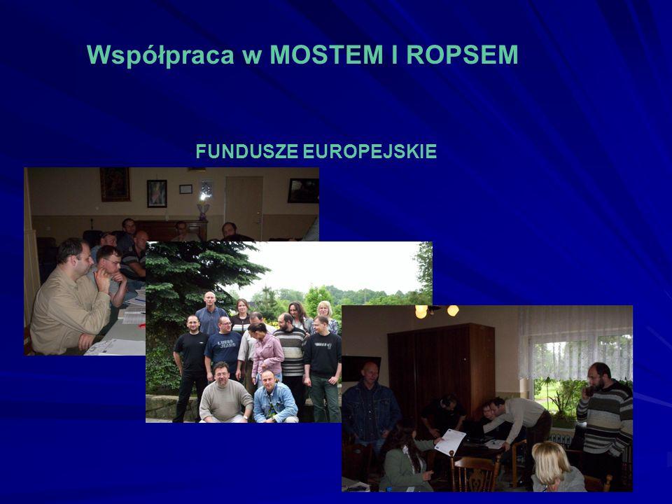 Współpraca w MOSTEM I ROPSEM FUNDUSZE EUROPEJSKIE
