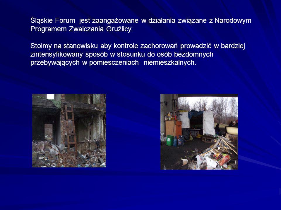 Śląskie Forum jest zaangażowane w działania związane z Narodowym Programem Zwalczania Gruźlicy. Stoimy na stanowisku aby kontrole zachorowań prowadzić