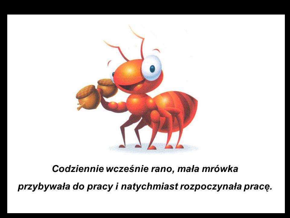 Oczywiście mrówkę, gdyż wykazywała brak motywacji i negatywną postawę .
