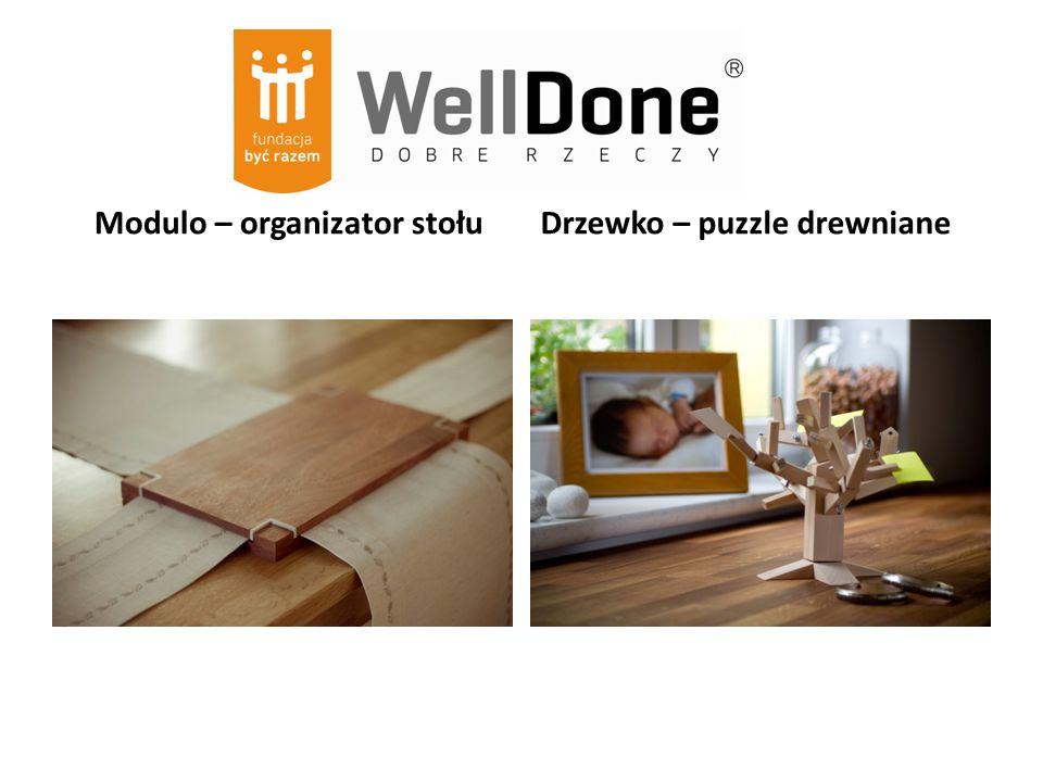 Modulo – organizator stołu Drzewko – puzzle drewniane