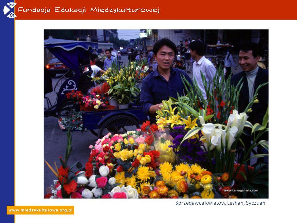 Sprzedawca kwiatow, Leshan, Syczuan