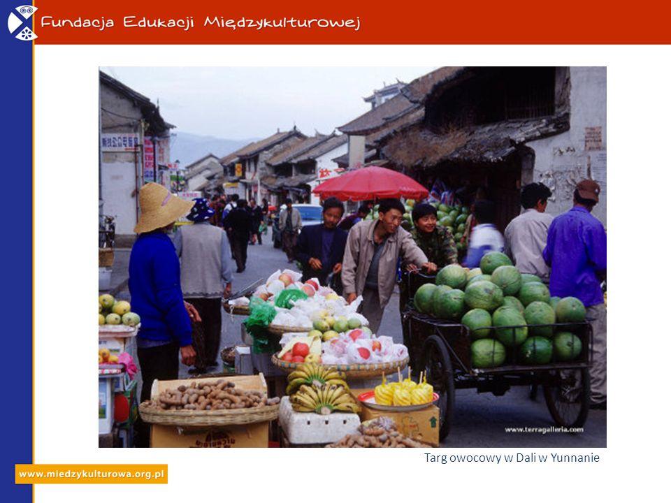 Targ owocowy w Dali w Yunnanie