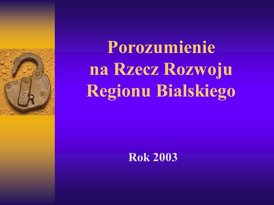 Porozumienie na Rzecz Rozwoju Regionu Bialskiego Rok 2003