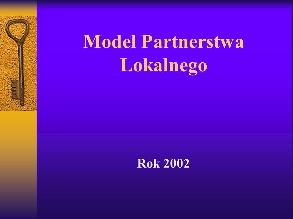 Model Partnerstwa Lokalnego Rok 2002