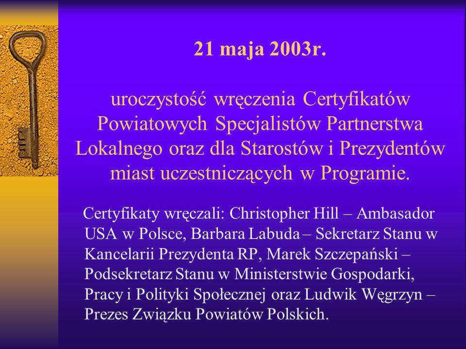 21 maja 2003r.