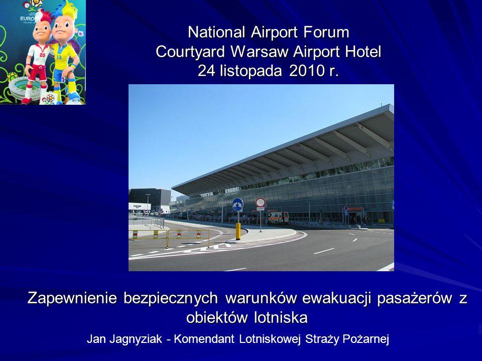 National Airport Forum Courtyard Warsaw Airport Hotel 24 listopada 2010 r. Zapewnienie bezpiecznych warunków ewakuacji pasażerów z obiektów lotniska J