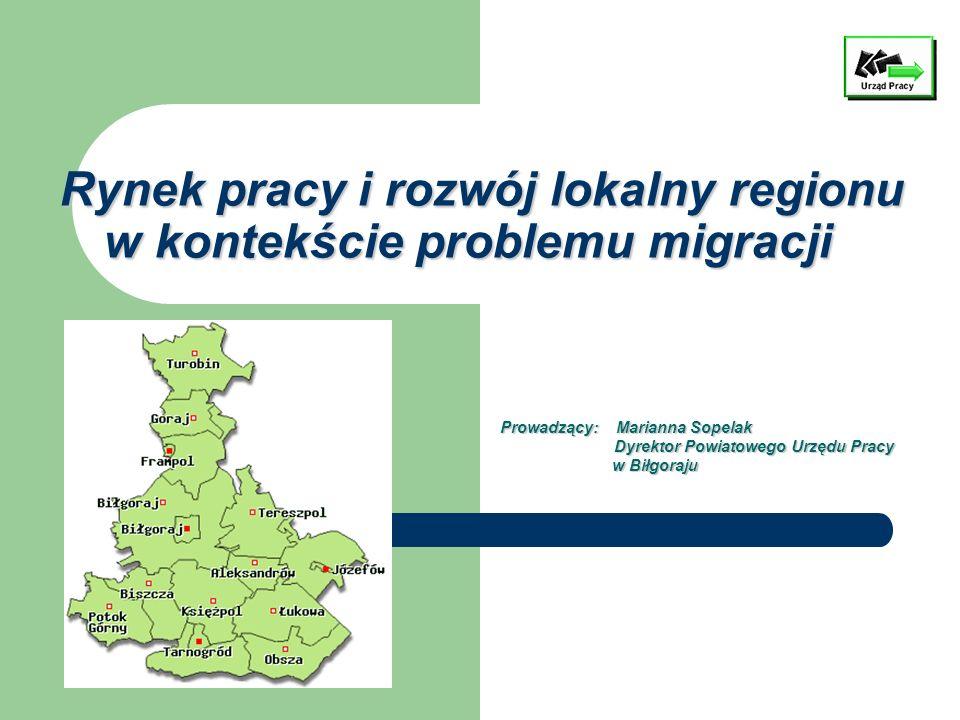 Rynek pracy i rozwój lokalny regionu w kontekście problemu migracji Rynek pracy i rozwój lokalny regionu w kontekście problemu migracji Prowadzący: Ma