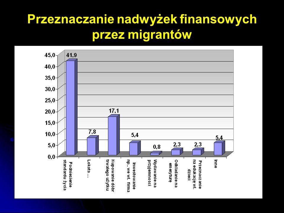 Przeznaczanie nadwyżek finansowych przez migrantów
