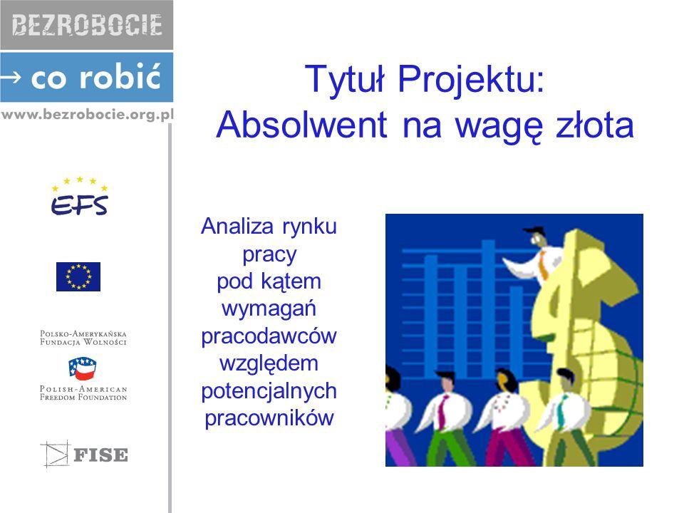 Tytuł Projektu: Absolwent na wagę złota Analiza rynku pracy pod kątem wymagań pracodawców względem potencjalnych pracowników