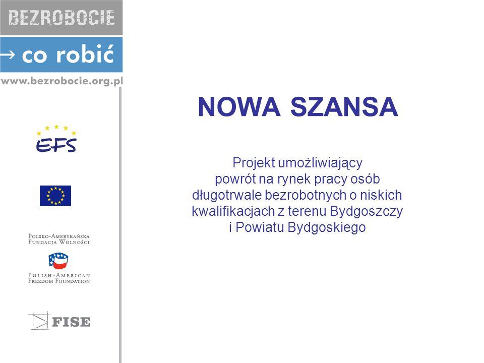 NOWA SZANSA Projekt umożliwiający powrót na rynek pracy osób długotrwale bezrobotnych o niskich kwalifikacjach z terenu Bydgoszczy i Powiatu Bydgoskie
