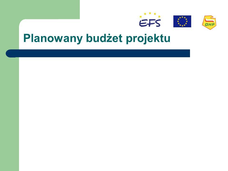 Planowany budżet projektu