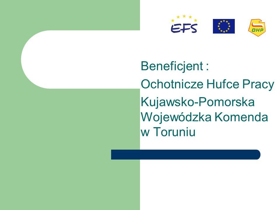 Beneficjent : Ochotnicze Hufce Pracy Kujawsko-Pomorska Wojewódzka Komenda w Toruniu