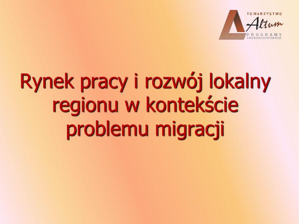 Rynek pracy i rozwój lokalny regionu w kontekście problemu migracji