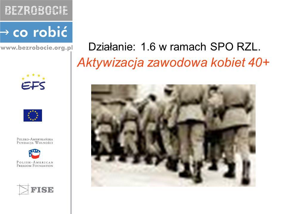 Beneficjent -kobiety długotrwale bezrobotne, -zarejestrowane w Powiatowych Urzędach Pracy powyżej 12 m-cy, -w wieku powyżej 40 lat, -zamieszkałe w mieście Łodzi.