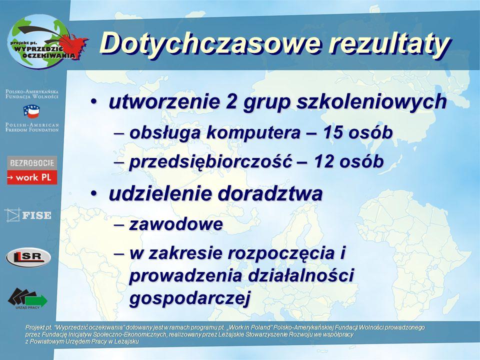 Projekt pt. Wyprzedzić oczekiwania dotowany jest w ramach programu pt. Work in Poland Polsko-Amerykańskiej Fundacji Wolności prowadzonego przez Fundac