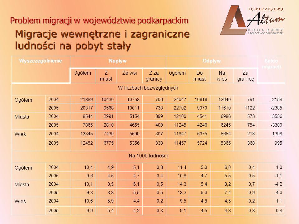 Saldo migracji stałej w 2006 r.