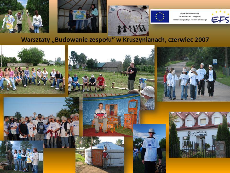 Warsztaty Budowanie zespołu w Kruszynianach, czerwiec 2007